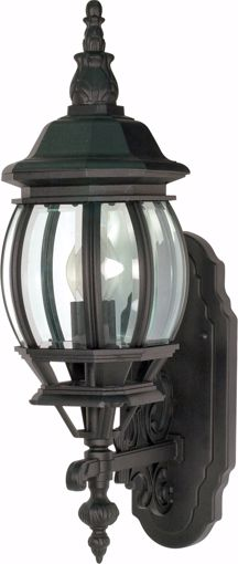 """Picture of NUVO Lighting 60/3469 Central Park - 1 Light - 20"""" - Wall Lantern - with Clear Beveled Glass; Color retail packaging"""