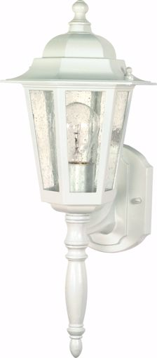 """Picture of NUVO Lighting 60/3470 Cornerstone - 1 Light - 18"""" - Wall Lantern - with Clear Seed Glass; Color retail packaging"""