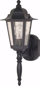 "Picture of NUVO Lighting 60/3472 Cornerstone - 1 Light - 18"" - Wall Lantern - with Clear Seed Glass; Color retail packaging"