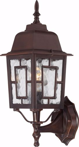 "Picture of NUVO Lighting 60/3488 Banyan - 1 Light - 17"" Outdoor Wall with Clear Water Glass; Color retail packaging"