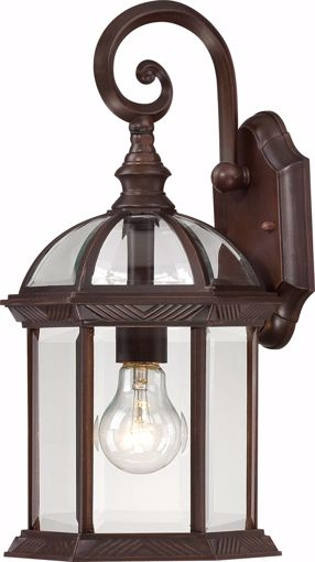 """Picture of NUVO Lighting 60/3495 Boxwood - 1 Light - 15"""" Outdoor Wall with Clear Beveled Glass; Color retail packaging"""