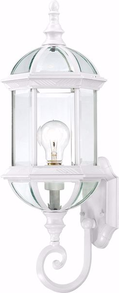 "Picture of NUVO Lighting 60/3497 Boxwood - 1 Light 22"" Outdoor Wall with Clear Beveled Glass; Color retail packaging"