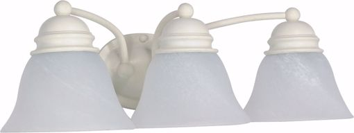 """Picture of NUVO Lighting 60/354 Empire - 3 Light - 21"""" - Vanity - with Alabaster Glass Bell Shades"""
