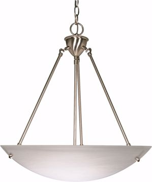 "Picture of NUVO Lighting 60/370 3 Light - 23"" - Pendant - Alabaster Glass Bowl"