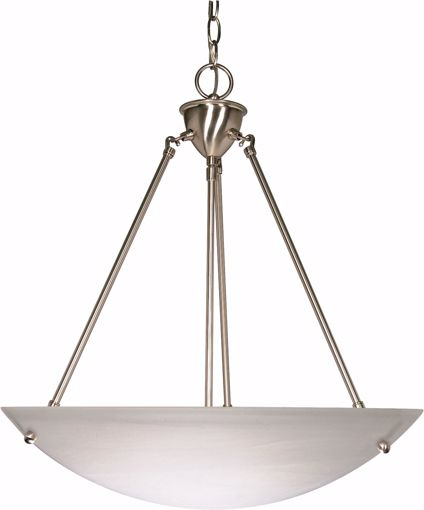 """Picture of NUVO Lighting 60/370 3 Light - 23"""" - Pendant - Alabaster Glass Bowl"""