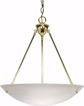 "Picture of NUVO Lighting 60/372 3 Light - 23"" - Pendant - Alabaster Glass Bowl"