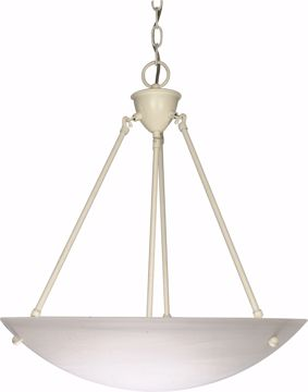"Picture of NUVO Lighting 60/373 3 Light - 23"" - Pendant - Alabaster Glass Bowl"
