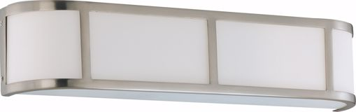 Picture of NUVO Lighting 60/3803 Odeon ES - 3 Light Wall Sconce with White Glass - (3) 13w GU24 Lamps Included