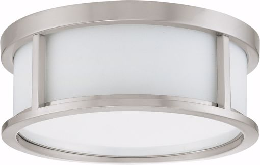 """Picture of NUVO Lighting 60/3811 Odeon ES - 2 Light 13"""" Flush Dome with White Glass - (2) 13w GU24 Lamps Included"""