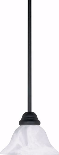 """Picture of NUVO Lighting 60/386 Castillo - 1 Light - 8"""" - Mini Pendant - with Hang-Straight Canopy"""