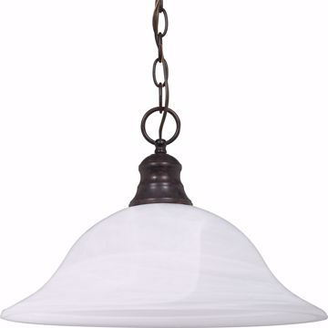 "Picture of NUVO Lighting 60/391 1 Light - 16"" - Pendant - Alabaster Glass"