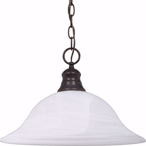 """Picture of NUVO Lighting 60/391 1 Light - 16"""" - Pendant - Alabaster Glass"""