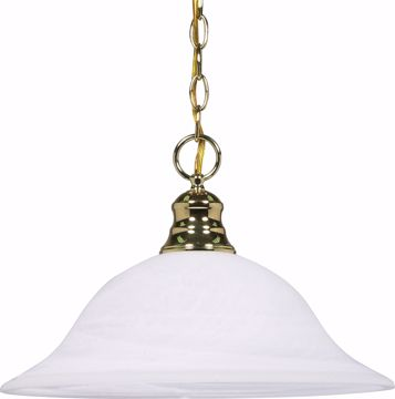 "Picture of NUVO Lighting 60/392 1 Light - 16"" - Pendant - Alabaster Glass"