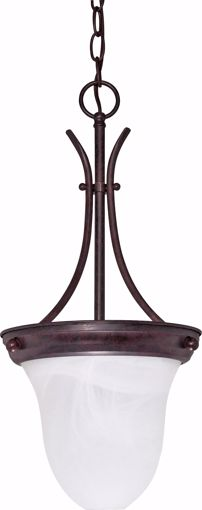 """Picture of NUVO Lighting 60/395 1 Light - 10"""" - Pendant - Alabaster Glass Bell"""