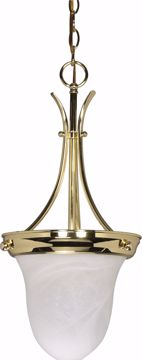 """Picture of NUVO Lighting 60/396 1 Light - 10"""" - Pendant - Alabaster Glass Bell"""