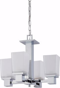 Picture of NUVO Lighting 60/4005 Parker - 4 Light Chandelier with Sandstone Etched Glass