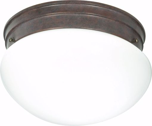 """Picture of NUVO Lighting 60/407 2 Light CFL - 10"""" - Medium White Mushroom - (2) 13W GU24 Lamps Included"""