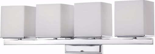 Picture of NUVO Lighting 60/4084 Bento - 4 Light Vanity Fixture with Satin White Glass