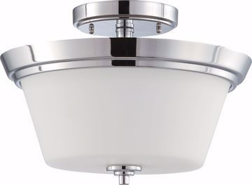 Picture of NUVO Lighting 60/4087 Bento - 2 Light Semi Flush Fixture with Satin White Glass