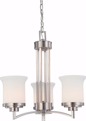 Picture of NUVO Lighting 60/4104 Harmony - 3 Light Chandelier with Satin White Glass
