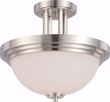 Picture of NUVO Lighting 60/4107 Harmony - 2 Light Semi Flush Fixture with Satin White Glass