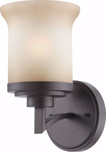 Picture of NUVO Lighting 60/4121 Harmony - 1 Light Vanity Fixture with Saffron Glass