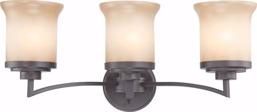 Picture of NUVO Lighting 60/4123 Harmony - 3 Light Vanity Fixture with Saffron Glass