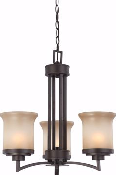 Picture of NUVO Lighting 60/4124 Harmony - 3 Light Chandelier with Saffron Glass