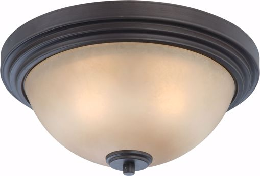 Picture of NUVO Lighting 60/4131 Harmony - 2 Light Flush Dome Fixture with Saffron Glass
