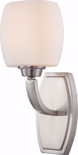 Picture of NUVO Lighting 60/4181 Helium - 1 Light Vanity Fixture with Satin White Glass