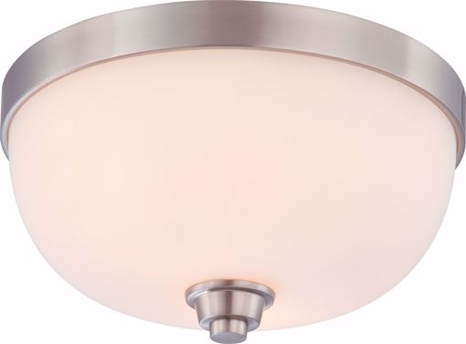 Picture of NUVO Lighting 60/4192 Helium - 2 Light Flush Dome Fixture with Satin White Glass