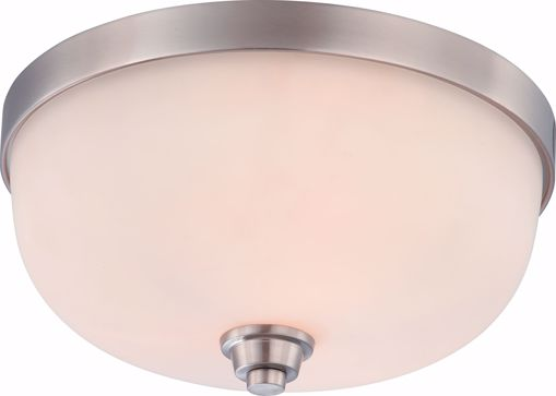 Picture of NUVO Lighting 60/4193 Helium - 3 Light Flush Dome Fixture with Satin White Glass