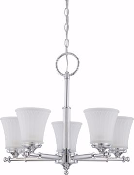 Picture of NUVO Lighting 60/4265 Teller - 5 Light Chandelier with Frosted Etched Glass