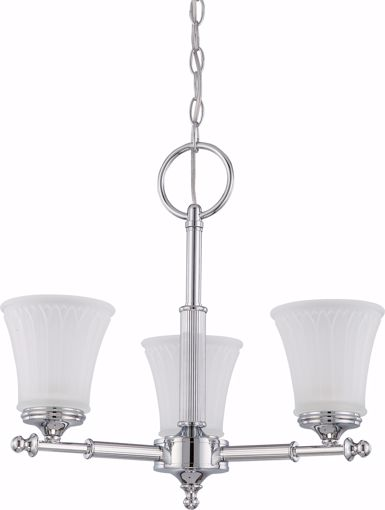 Picture of NUVO Lighting 60/4266 Teller - 3 Light Chandelier with Frosted Etched Glass