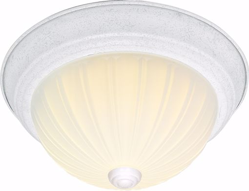 """Picture of NUVO Lighting 60/443 2 Light CFL - 11"""" - Flush Mount - Frosted Melon Glass - (2) 13W GU24 Lamps Included"""