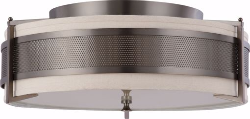 Picture of NUVO Lighting 60/4437 Diesel - 4 Light Large Flush with Khaki Fabric Shade
