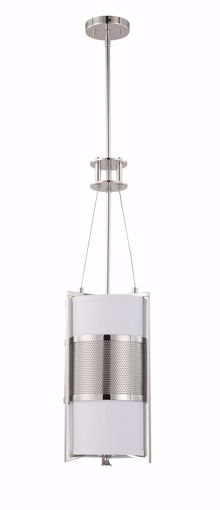 Picture of NUVO Lighting 60/4441 Diesel - 1 Light Vertical Pendant with Slate Gray Fabric Shade