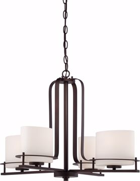 Picture of NUVO Lighting 60/5004 Loren - 4 Light Chandelier with Oval Frosted Glass