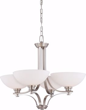 Picture of NUVO Lighting 60/5014 Bentley - 4 Light Chandelier with Frosted Glass