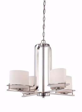 Picture of NUVO Lighting 60/5104 Loren - 4 Light Chandelier with Oval Frosted Glass
