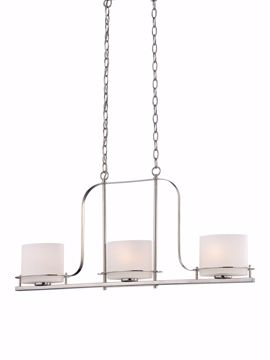 Picture of NUVO Lighting 60/5106 Loren - 3 Light Island Pendant with Oval Frosted Glass