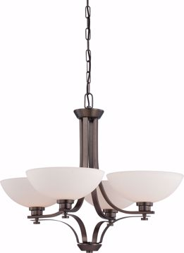 Picture of NUVO Lighting 60/5114 Bentley - 4 Light Chandelier with Frosted Glass