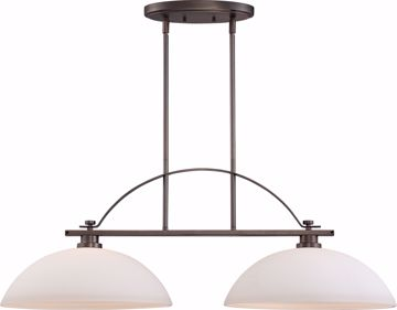 Picture of NUVO Lighting 60/5118 Bentley - 2 Light Island Pendant with Frosted Glass