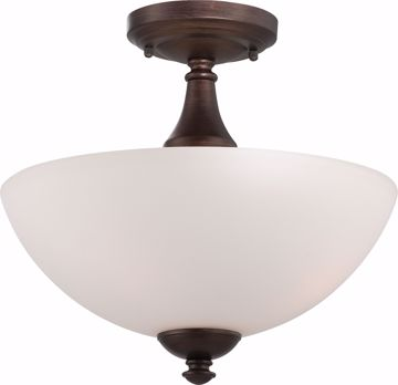 Picture of NUVO Lighting 60/5144 Patton - 3 Light Semi Flush with Frosted Glass