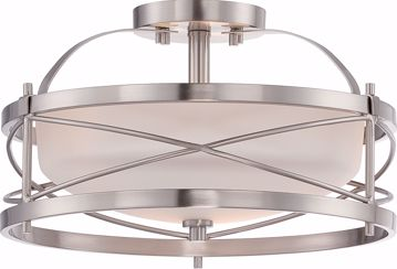 Picture of NUVO Lighting 60/5331 Ginger - 2 Light Semi Flush with Etched Opal Glass