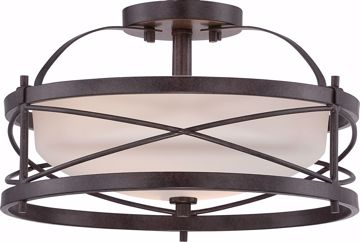 Picture of NUVO Lighting 60/5335 Ginger - 2 Light Semi Flush with Etched Opal Glass