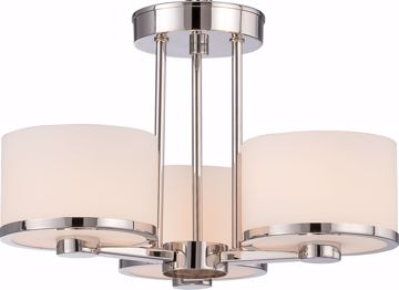 Picture of NUVO Lighting 60/5477 Celine - 3 Light Semi Flush with Etched Opal Glass
