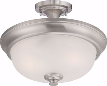 Picture of NUVO Lighting 60/5600 Elizabeth - 2 Light Semi Flush with Frosted Glass