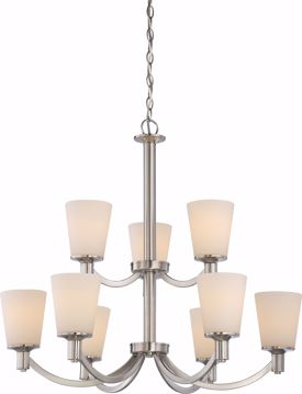 Picture of NUVO Lighting 60/5829 Laguna - 9 Light 2-Tier Hanging with White Glass