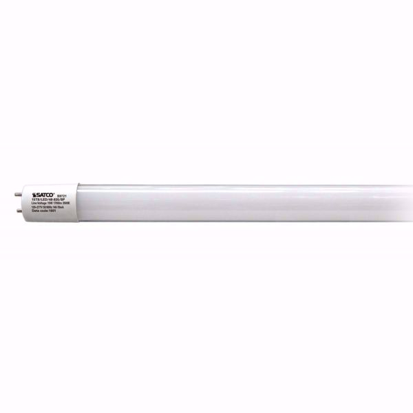 "Picture of SATCO S9721 15T8/LED/48-835/BP Glass 48"" LED Light Bulb"